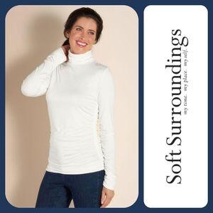 SOFT SURROUNDINGS Great Shape Turtleneck Ivory